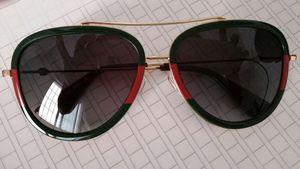 0062 Gafas de sol piloto Gold Frame gafas de sol 0062s Gafas de sol de diseñador Gafas de sol de lujo con caja