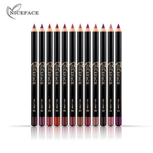 12 Colors set Brand Lip Pencils Matte Lipliner Pencil Waterproof Makeup Lips 2018 Matte Lipstick Lip Liner Pen Smooth Nude Cosmetics