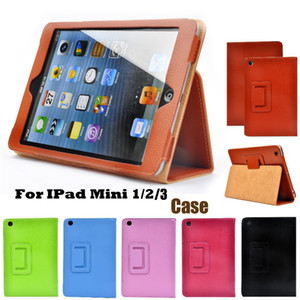 Cyberstore For iPad Pro 9.7 10.5 Litchi Leather Smart Case Flip Folding Folio Cover For iPad Air 2 Mini 2 3 4