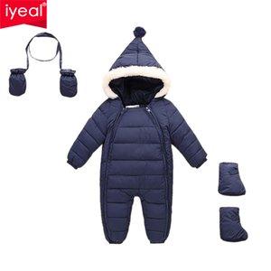 IYEAL Down Baumwolle Baby Strampler Winter Dicke Jungen Kostüm Mädchen Warme Säuglings Schneeanzug Kind Overall Kinder Oberbekleidung Baby Tragen