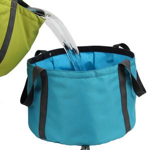 10L Portable Outdoor Travel Pieghevole Pieghevole Bacino Secchio Lavello Lavello Sacchetto di lavaggio Secchio d'acqua da campeggio Lavabo