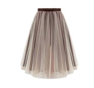 Ropa para Mujer Faldas ahuecado longitud de la rodilla Faldas Mujer burbuja faldas del partido dulce de la manera ropa de noche