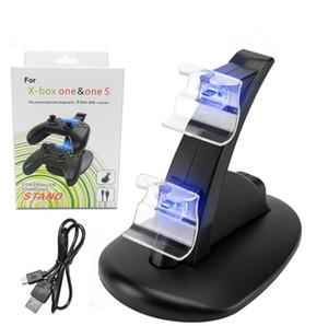 Cargador de doble controlador Cargador Base de carga Estación para Sony PlayStation PS4 PS 4 X-Box one ones Game Gaming Controlador inalámbrico Console