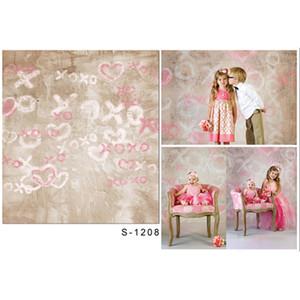 Duvar Retro Stil Yenidoğan Çocuk Fotoğraf Stüdyosu Arka Plan Üzerinde Bebek Kız Doğum Fotoğrafçılık Backdrop Vinil Kumaş Baskılı Aşk Kalpler Çizim
