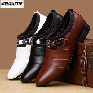 WEINUOTE Chaussures de cuir décontractées New Fashion Classic pour hommes, homme d'affaires, chaussures habillées pour hommes