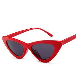 Gafas de sol de moda Cat Eye para mujeres y hombres Trabajo exquisito Gafas de sol de moda triángulo transparente de la personalidad del océano