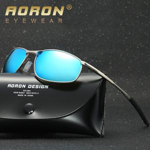 Designer di marca Maschile Occhiali da sole Uomo Polarized Driver Occhiali Police Occhiali da sole HD Driving oculos De Sol lunette soleil homme D18102305
