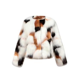 KLV 2018 Sıcak Satış Yeni Çocuklar Bebek Kız Sonbahar Kış Faux Kürk Ceket Kız Ceket Kalın Sıcak Giyim Giyim çocuk giyim Y18102508