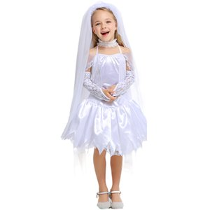 2020 Halloween-Geist-Bride Thema Kostüme Gothic Girl-Prinzessin-Kleid 50% Kinder Engel Abendkleid Karneval Cosplay Wear