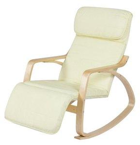 silla de casa de madera curvada relajada