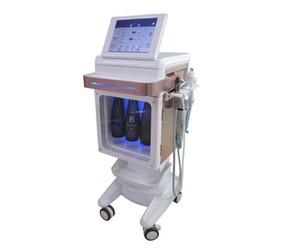 جديد هيدرا الوجه Microdermabration آلة بيو الحالي الأكسجين بخاخ الترددات الراديوية RF شد الوجه التبريد تدليك المطرقة المائية قشر الوجه