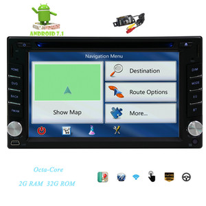 Camera+2din GPS Car DVD Player Octa-core Android 7.1 Stereo Dash 6.2'' Capacitive Multi-touchscreen GPS Navigation Bluetooth Head Unit Wifi