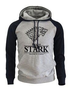 2018 Raglan Hoodies For Men House Stark La Chanson de la Glace et du Feu L'hiver Vient Sportswear Homme Game Of Thrones Sweat S18101703