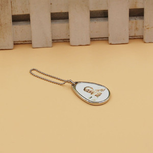 Sublimation Metal Blank water-drop shape Pendant Keychain DIY heat trasnfer printing Blank Plain Key Chain Material