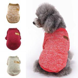 Vestiti del cappotto del maglione del cane dell'animale domestico Autunno Caldo freddo difensivo del cotone del cucciolo del gatto dei cuccioli che tricotta il commercio all'ingrosso dell'abito dei cani