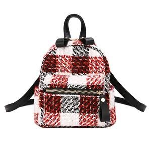 2018 Mode Nouvelles femmes Sacs à dos Hit couleur laine Qualité sac à bandoulière College vents Stripes Petit sac à dos Mini Voyage sac à dos