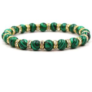 201.908 Qualitäts-natürliche buntes Grün Malachit Männer und Frauen BraceletsBangle Korn-Charme-Zubehör Armband Geburtstags-Geschenk