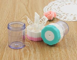 HOT DHL Color Contact Lens Cleaner Case Lavadora de limpieza manual Eyewear Care Holder Kit de almacenamiento Set Box para ojos Envío gratis 3 colores