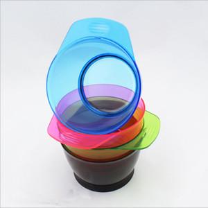 Tintura de Cabelo de coloração de Plástico Escova Pente de Mistura Otário Paleta Tigela Barbeiro Matiz Ferramentas de Estilo de Cabeleireiro Cor Aleatória frete grátis