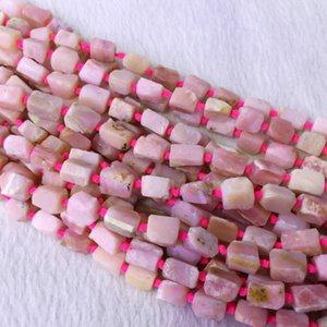 Natural Genuine Peru Opala Rosa Mão Corte Nugget Forma Livre Solto Áspero Fosco Contas Facetadas 6-8mm 05379