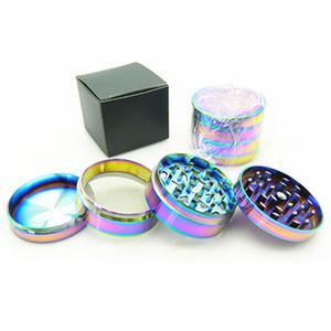 Rainbow Grinders Ice Blue Grinder Zinc Alloy Metal Grinders 52 MM Diameter 4 Parts Herb Grinders Herb Crushers Fast DHL Shipping