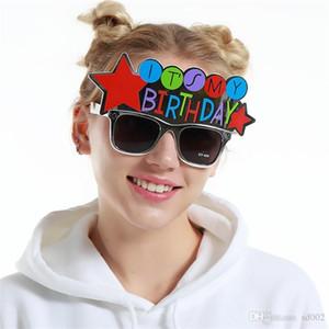 Onun Benim Doğum Günü Güneş Gözlüğü Ziyafet Süslemeleri Yaratıcı Komik Gözlük Simli Masquerade Topu Prop Yenilik Olay Parti Malzemeleri 9sf ii