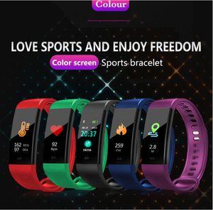 Smart bracelet color screen sports health Bluetooth heart rate blood pressure blood oxygen real-time monitoring wear bracelet