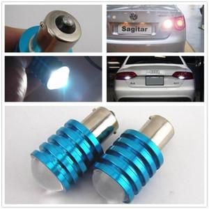2 Pcs 1156P BA15S 7 W LED Branco Puro Sinal de Carro Lâmpada de Luz Reversa