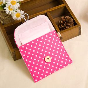 Damenbinden Paket Multi Color Cotton Tupfen-Druck Menstrual Pads Aufbewahrungstasche der heiße Verkauf 0 5HJ C