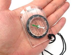 Edc Mini Compass Map Scale Ruler - معدات متعددة الوظائف التنزه في الهواء الطلق التخييم بقاء المحمولة البوصلة