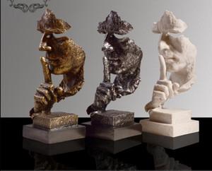 Pessoas abstratas Forma Modern Escultura Estátua Ornamento Artesanato para Casa Decorações HD01