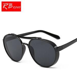 RBROVO 2018 Top Brand конфеты круглые солнцезащитные очки Женщины мужчины стимпанк солнцезащитные очки Женщины зеркало металлические очки