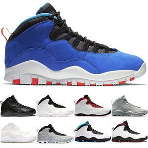 Nike Air Jordan 10 Retro Tasarımcı 10 10 s Tinker Çimento Westbrook Mens Eğitmen Basketbol Ayakkabıları Ben geri Siyah Beyaz Mavi Kırmızı Moda Erkekler Spor Sneakers Boyutu 41-47