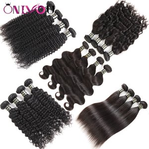 Indian Straight Human Hair Bundles Good Body Wave Virgin Human Hair Weaves Brazilian Peruvian Cambodian Mongolian Water Wave Hair Extensions