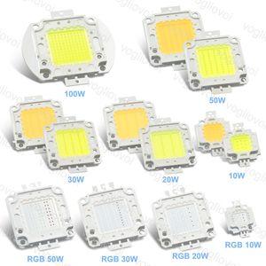 LED haute puissance Perle Cob RGB 10W 20W 30W 50W 100W blanc froid / chaud éclairage blanc Accessoires Pour Highbay Floodllight Rue EUB