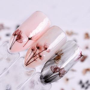 Dandeli Flor 3D Pegatinas de Uñas Nail Art Adhesive Transfer Sticker Decals Decor