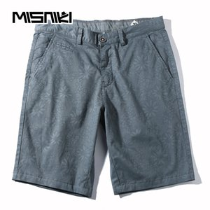 MISNIKI 2018 Solid Casual Shorts para hombres Summer Mens Beach Shorts Cotton Male Homme