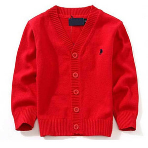 Nueva marca de ropa para niños 100% algodón suéter del bebé niños de alta calidad prendas de vestir exteriores suéter de la muchacha del muchacho suéter con cuello en v polo suéteres 00002