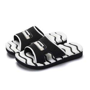 Pantofole per bambini Boy Indoor Sandali antisdrucciolevoli morbidi e comodi Black White Pink Stripe Girls Beach Shoe 2018 Pantofole estive # 10