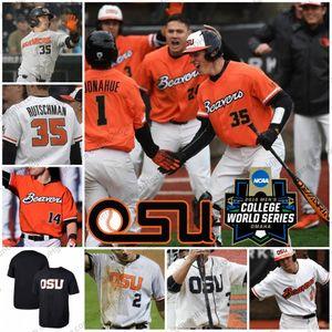 Maillot de baseball Oregon State Beavers 6 Joe Casey 14 Elliot Willy 35 Adley Rutschman 2 Cadyn Grenier S-4XL