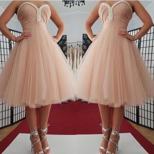 Formale Abendkleider Tee Länge Tulle Pink Damenmode Brautkleid für besondere Anlässe Prom Brautjungfer Kleid