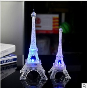 Factory direct sales Eiffel tower colorful LED small night lights romantic Paris Tower gifts wholesale