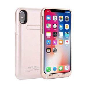 "Novo para iphone x bateria externa backup power bank carregador caso capa powerbank case para iphone 7 8 plus 4.7 ""5.5"" polegadas MOQ 50 pcs"