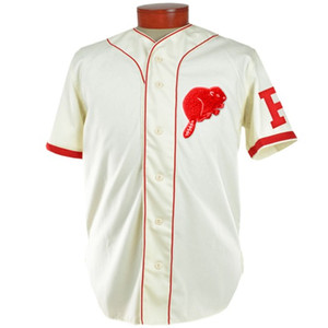 Portland Beavers 1936 Accueil Jersey 100% brodé Logos de broderie Maillots de baseball Vintage Personnalisé N'importe quel nom N'importe quel nombre Livraison gratuite