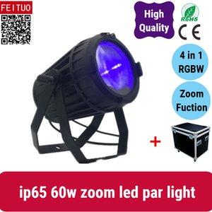 6light com LED impermeável caso estrada zoom luz do estágio par 60W zoom levou cob par
