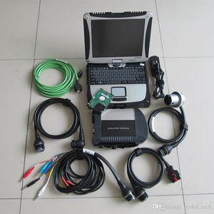 Ferramentas de diagnóstico automotivo para mb estrela c4 com 320 gb hdd xentry das pec conjunto completo com laptop cf19 tela sensível ao toque