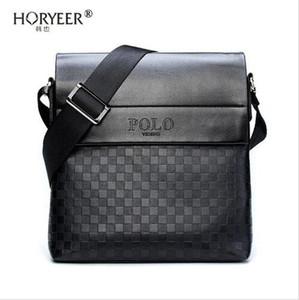 HORYEER sacoche homme oferta especial bolsa de mensajero de cuero moda hombre de negocios bolso crossbody marca POLO Hombro maletín B