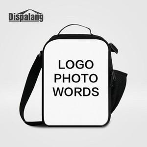 حقيبة الغداء النسائية الصغيرة حقائب طباعة الشعار الخاص بك صور Lunchbox لأطفال المدارس تخصيص تصميم حقائب تبريد للطلاب Lancheira