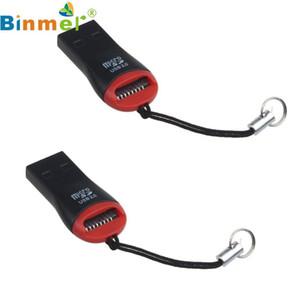 좋은 판매 2PCS USB 2.0 마이크로 SD SDHC TF 플래시 메모리 카드 리더 노트북 미니 어댑터 3 월 30 일 무료 배송