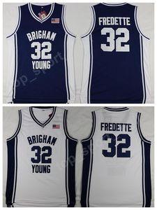 Brigham Young Cougars Baloncesto 32 Jimmer Freette Jersey Men Navy Blue Blanco Deportes Fredette College Jerseys University Hottest